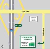 Northstar Truck Wash Map